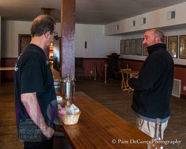 Our guide on the left; Winemaker Matthew Meyer on the right