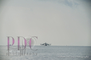 Shrimp boat from a distance